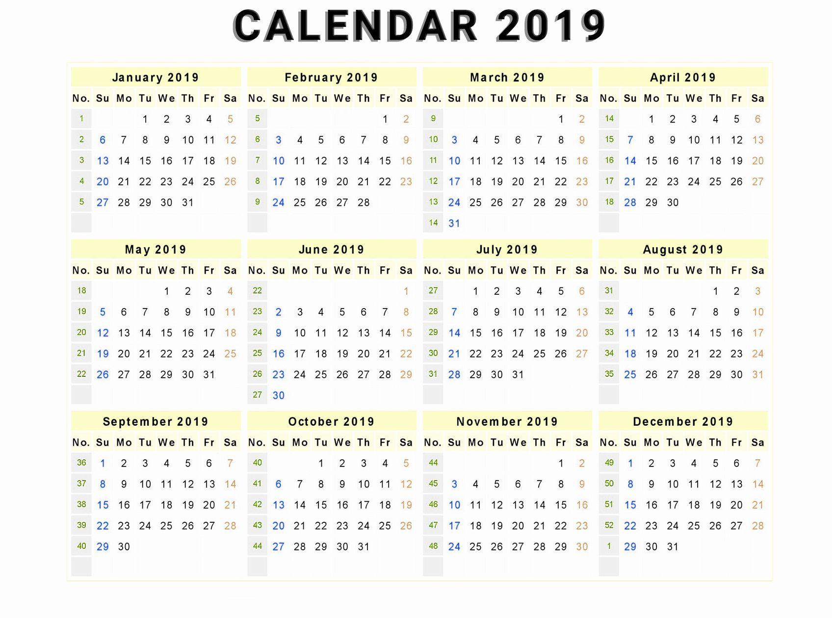 Canada 12 Months Calendar