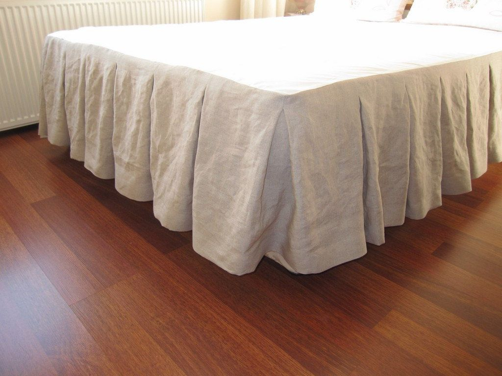 Linen Pleated Bed Skirt Bedroom Pinterest Cal King