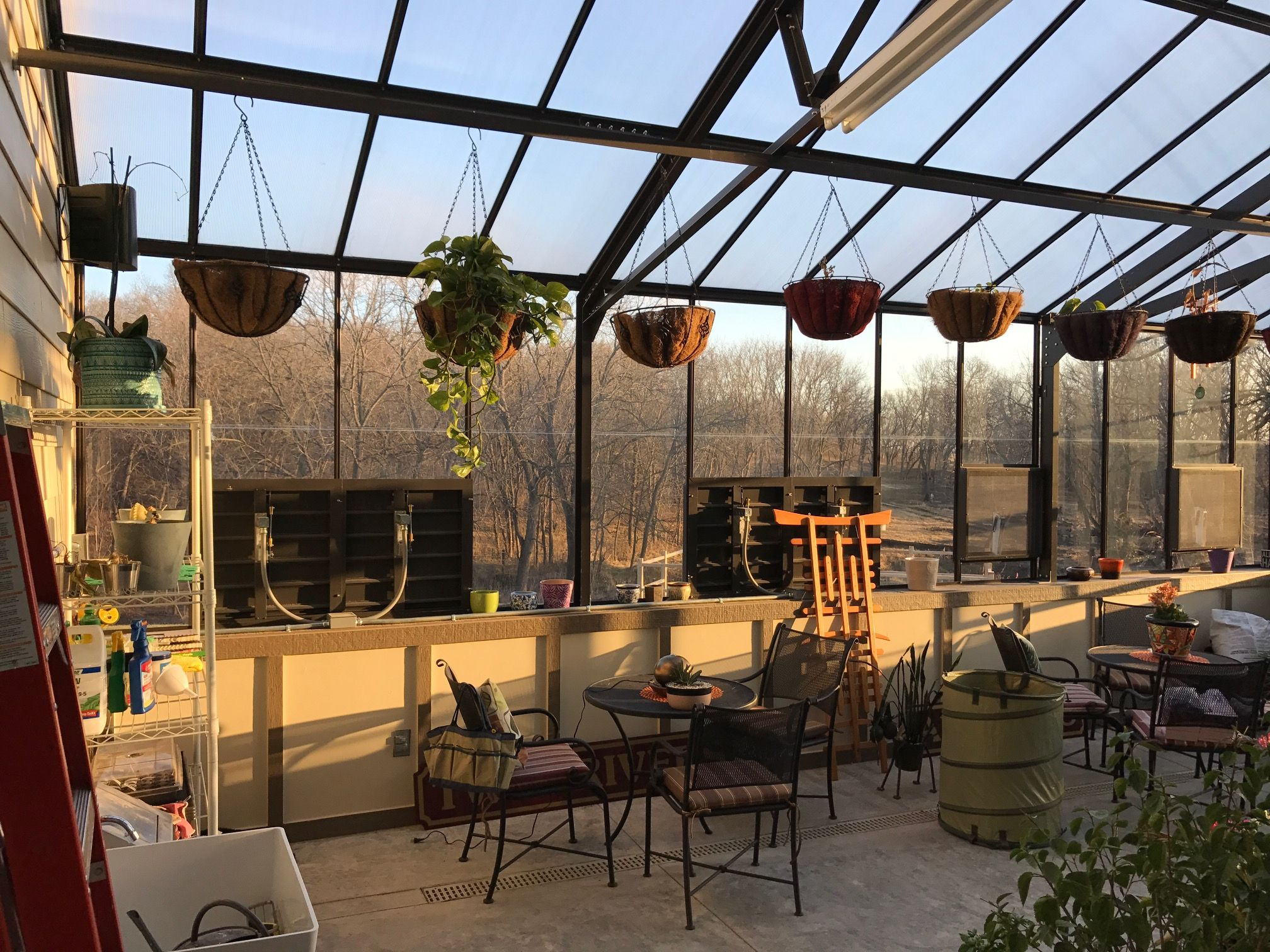 Acadian Lean To Greenhouse Doubles As A Sunroom This Was A Custom Size To Fit Right Into An L Shaped Patio On Their Hom Lean To Greenhouse Lean To Greenhouse