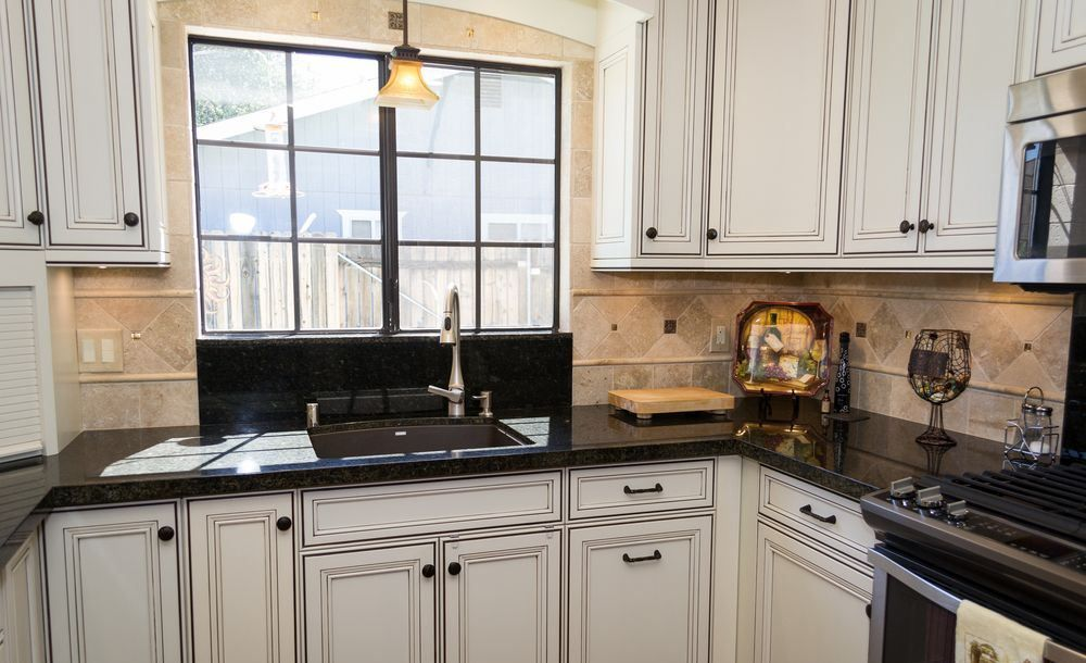 Image result for leathered uba tuba white cabinets in 2019 ...