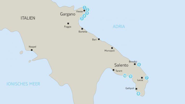Top 10 Malerische Apulien Strande Apulien Strande Apulien Und