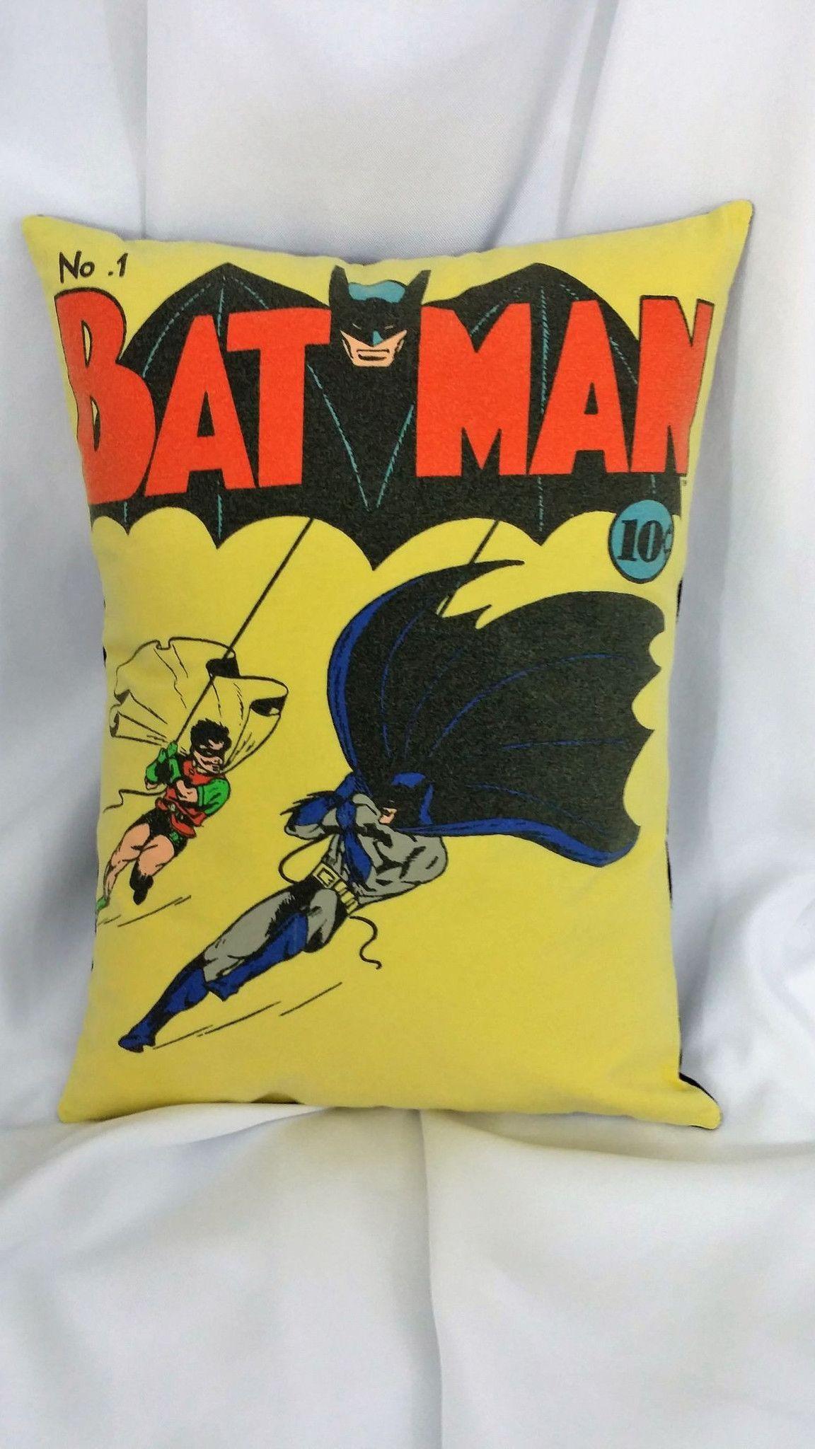Design Comic Book Bedding batman 1940 comic no 1 tshirt made into a pillow cover book bedding