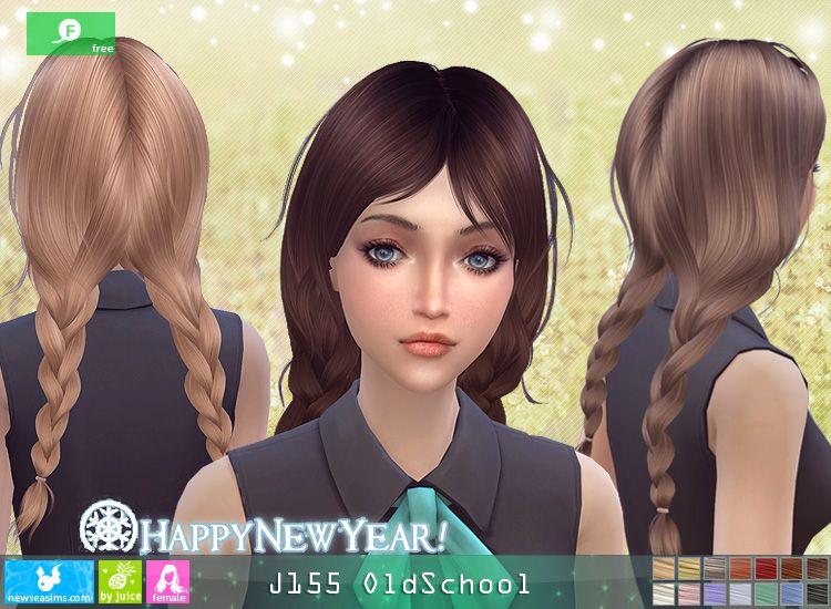 Newsea J155 Old School Hair Sims 4 Sims 4 Sims Sims Hair