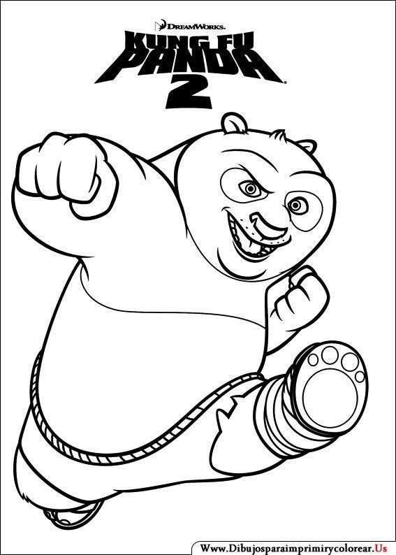 Dibujos de Kung Fu Panda para Imprimir y Colorear | festa kung fu ...