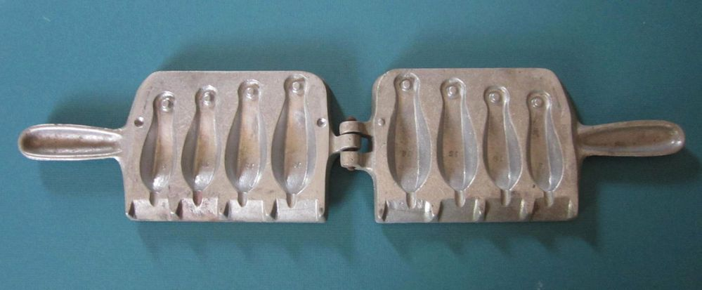 Details about C Palmer Fishing Sinker Mold No 104 - 8 10 12