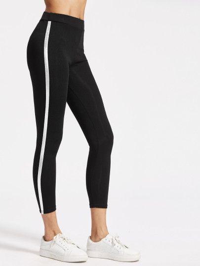 d4f95ee2d8028 Striped Side Capri Leggings   Clothes I'm gonna buy when I get a job ...