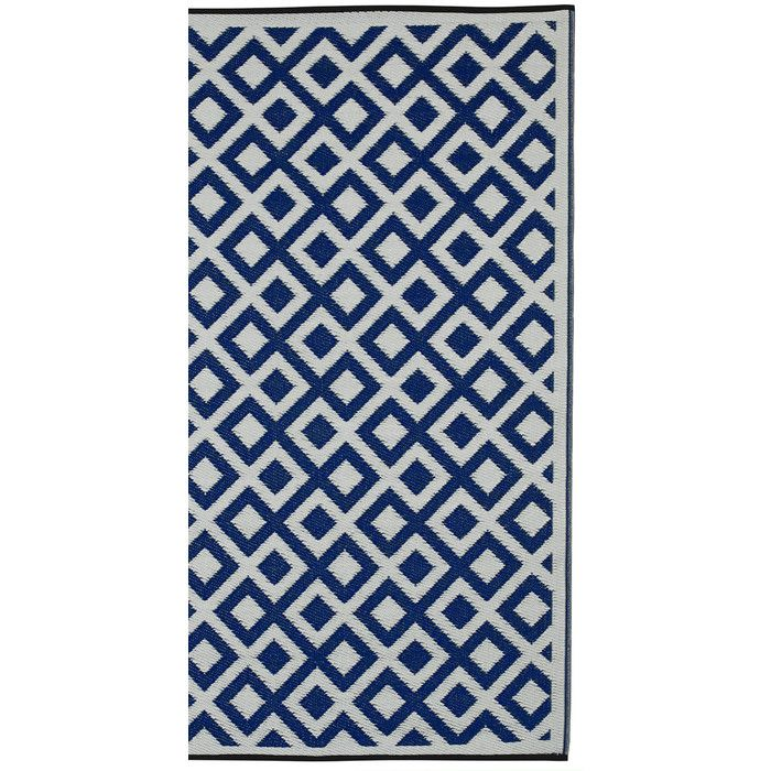 Fab Hab World Indigo X2f White Indoor X2f Outdoor Area Rug Reviews Wayfair Co Uk Outdoor Rugs Geometric Area Rug Outdoor Plastic Rug