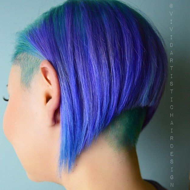 Teal Undercut | 21 Bold AF Hair Colors To Try In 2016