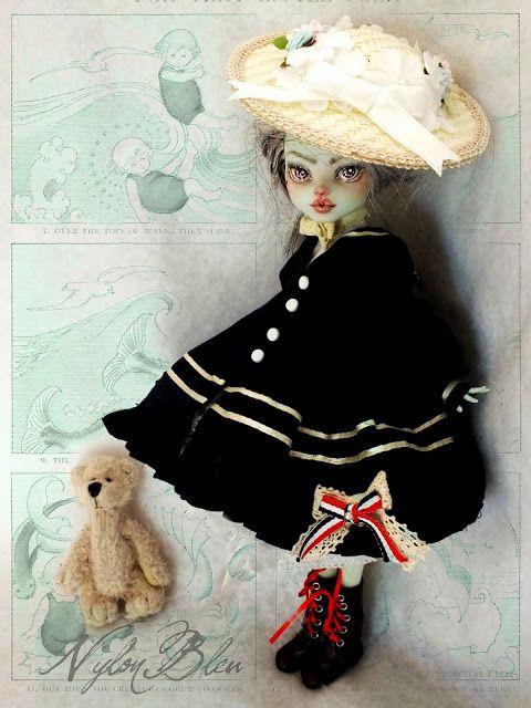 NylonBleu Doll Pictures: Lovely White Wandy at the fairy seaside - Monster High OOAK custom repaint