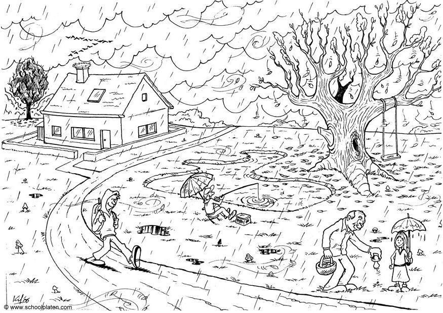 Mevsimler Boyama Kitabı çizim Baskı Sinif Için Yapilabilecekler