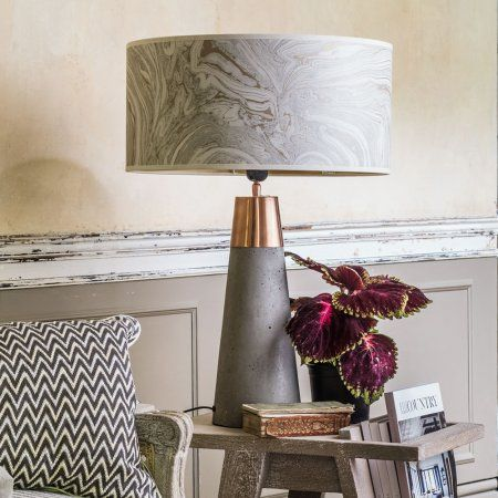 Concrete And Brass Table Lamp Table Lamps Graham And Green