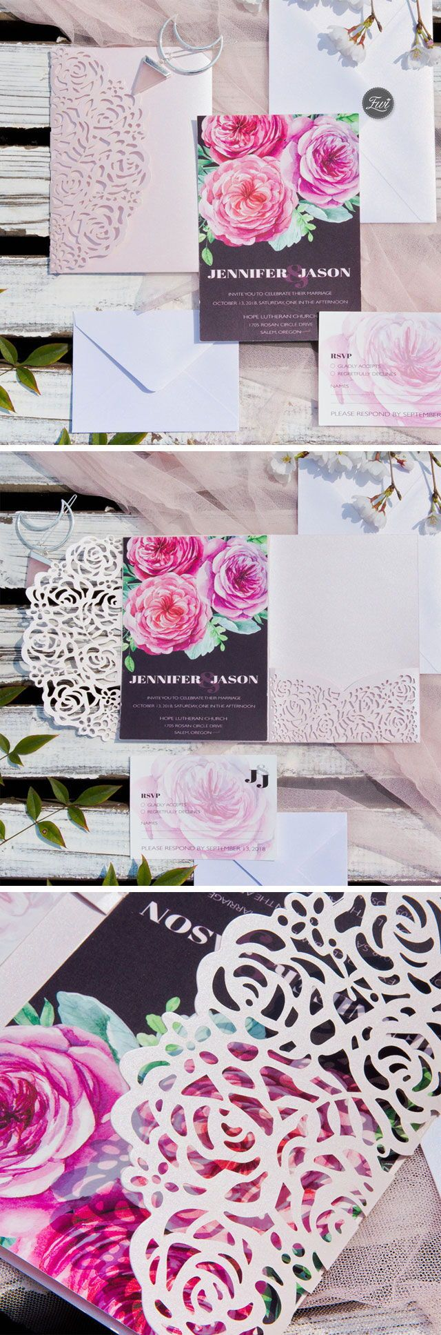 Wedding decorations table october 2018 bursting with blooms u pink floral inspired invitation with blush