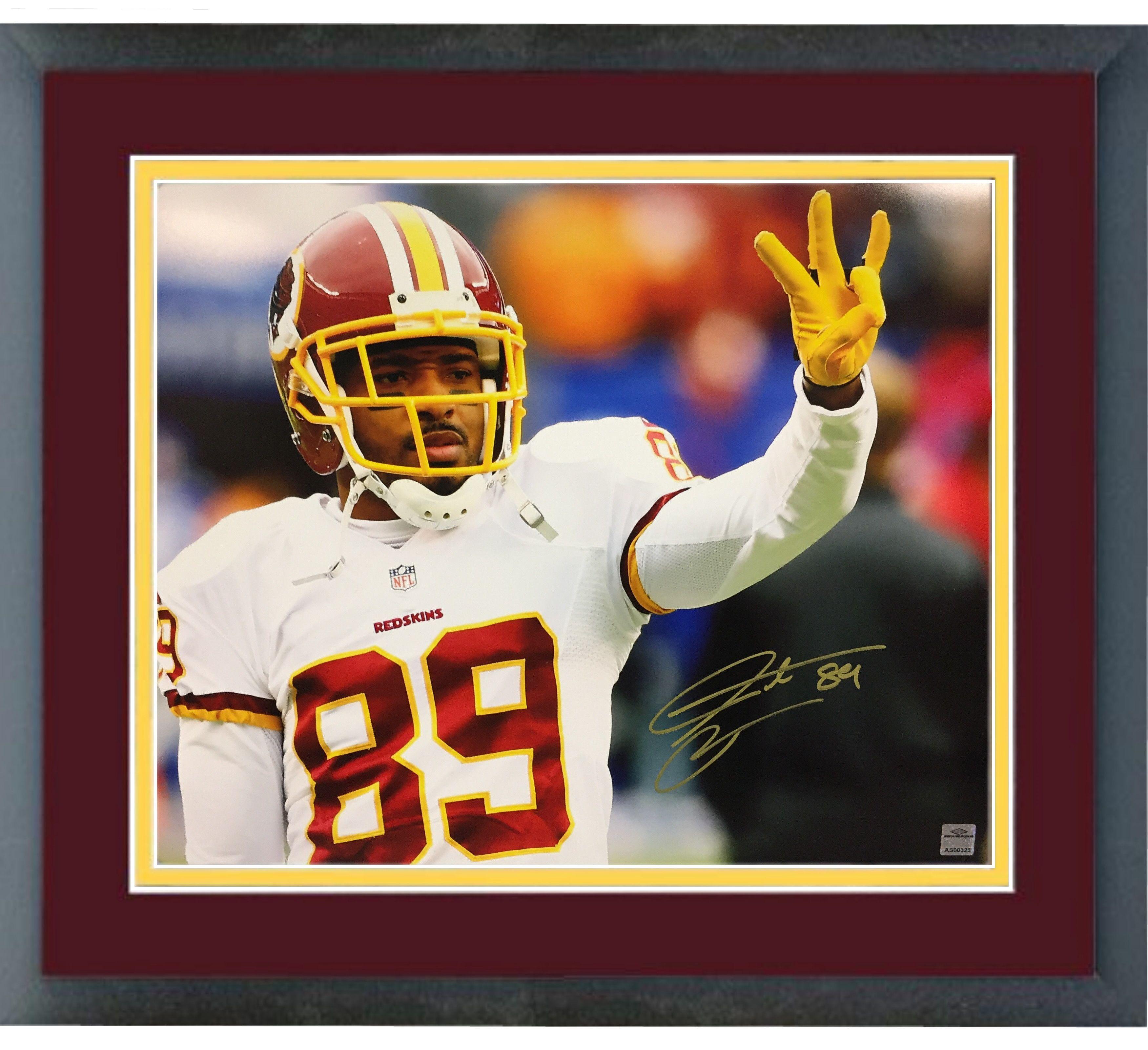 93800808c Santana Moss Washington Redskins Signed Auto Framed 16x20 Photo Sean ...