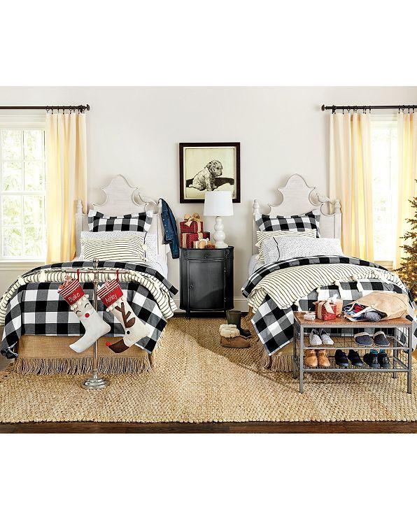 Gwyneth Buffalo Check Bedding Ballard Designs White Bedroom Decor Twin Beds Guest Room Twin Bedroom