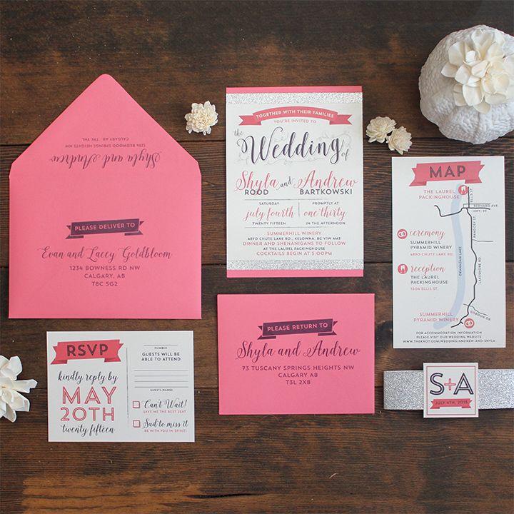 Modern Glam Wedding Invitation Suite Pinterest Invitation suite