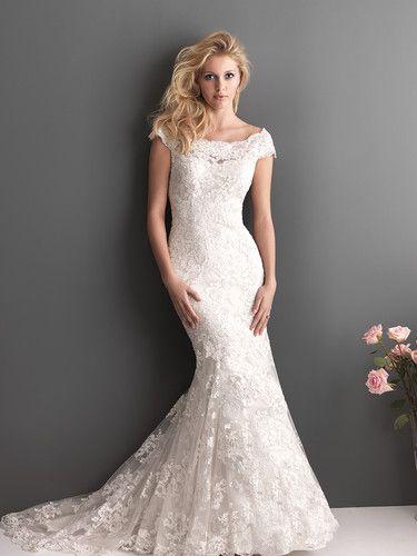 Cap Sleeve Lace Beading Fishtail Bridal Wedding Gowns Bride Wedding ...