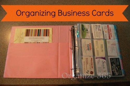 Organizing Business Cards Office Ideas Organization Business