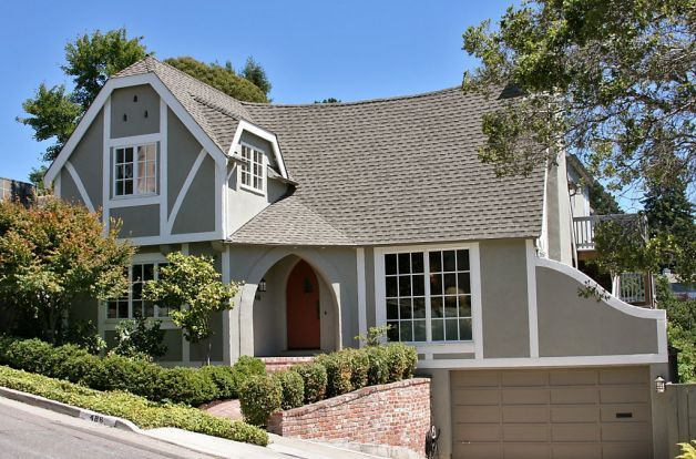 Spacious tudor style home in berkeley hills tudor - Tudor revival exterior paint colors ...