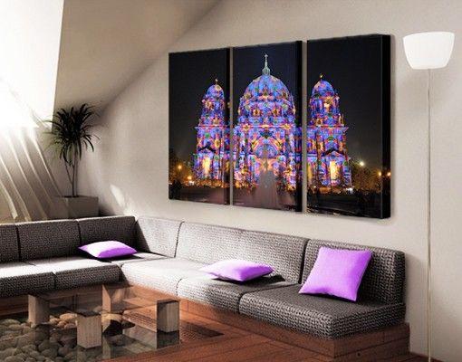 #Leinwandbild Der Berliner Dom Triptychon #wohnzimmer #ideen #wohnen  #relaxen #ruhe