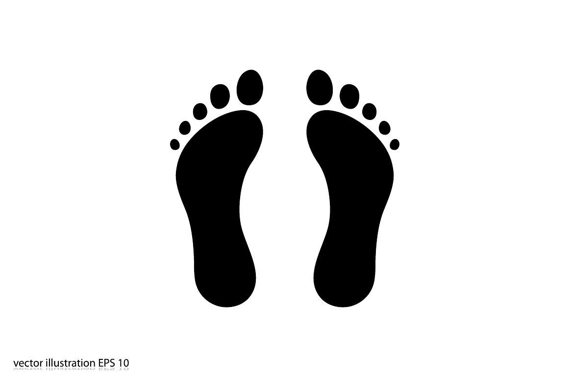 Feet Icon Vector