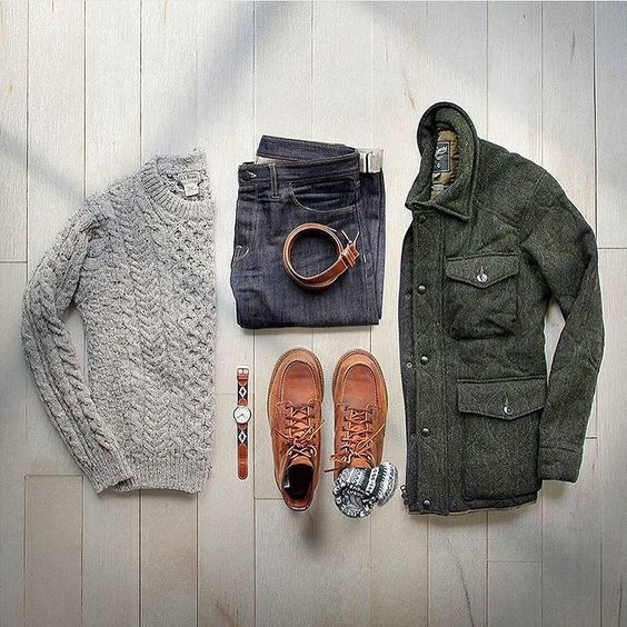3sixteen BDU jacket - men's outfit grid | Mens outfits ...