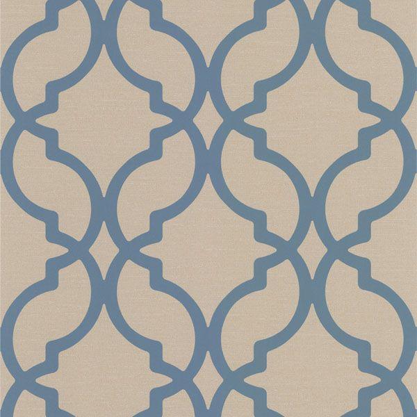 Dl30617 Blue Moroccan Trellis - Harira - Decorline Wallpaper