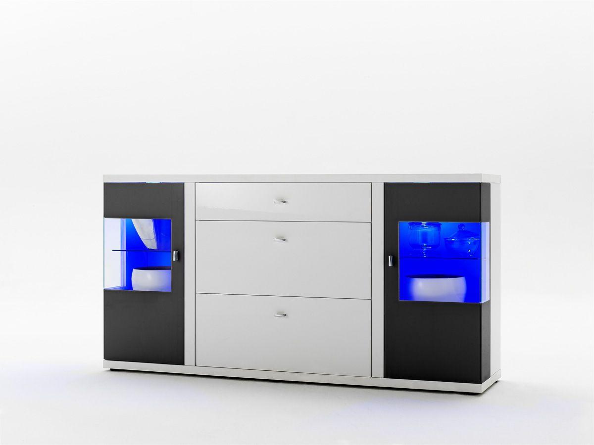Faszinierend Sideboard Mit Glastüren Galerie Von Kylie I Hochglanz Weiß Passend Zum Möbelprogramm