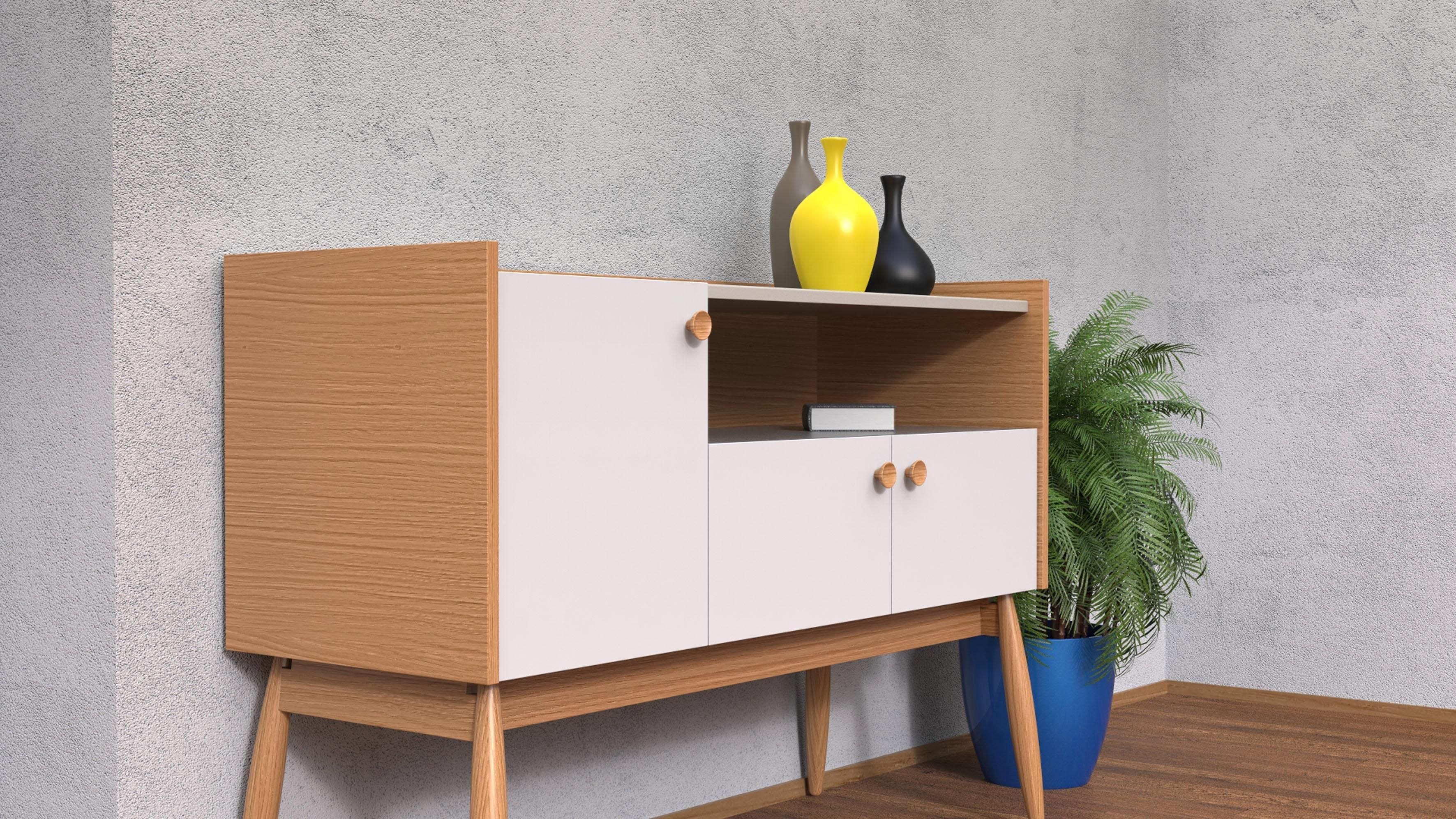Woodman Sideboard Francis In 2020 Sideboard Dekor Sideboard Weiss