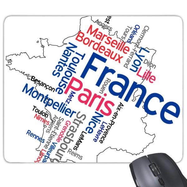 Words City France Mark Landmark National Flag Architecture Custom Landscape Illustration Pattern Rectangle Non-Slip Rubber Mousepad Game Mouse Pad