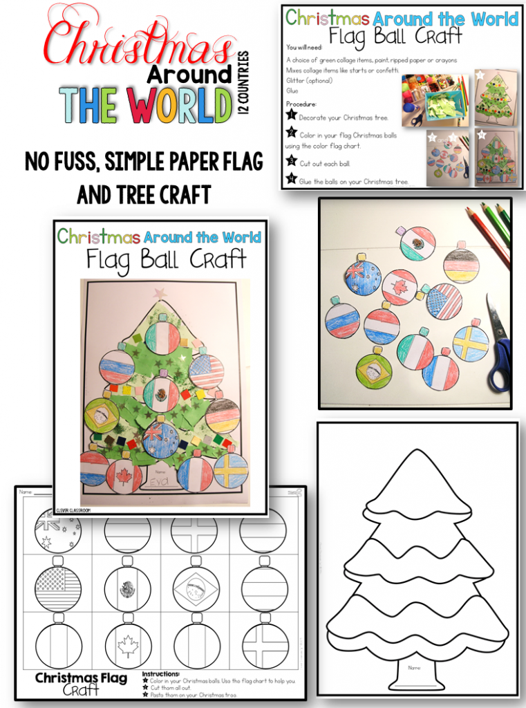 Christmas Around the World writing prompts, crafts and