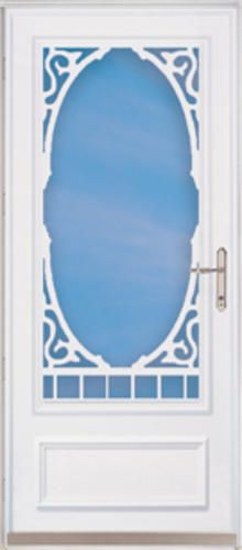 ChamberDoor Heritage X Nickel Hardware White Woodcore Storm U0026 Screen Door;  Reversible Swing At Menards
