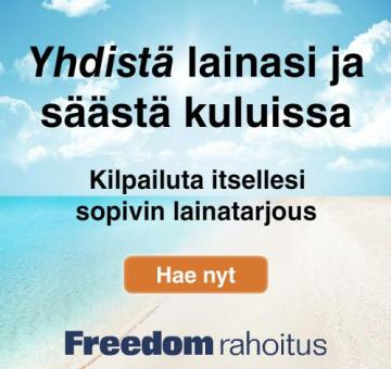 FREEDOM RAHOITUS   Tiesitkö: Jopa 50.000€ Lainaa 1-15 Vuodeksi? Vain Suuri Saa Lainan Edullisimmin!