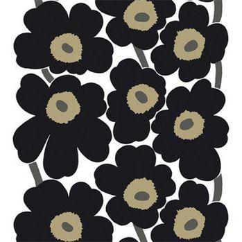 Unikko pattern in black