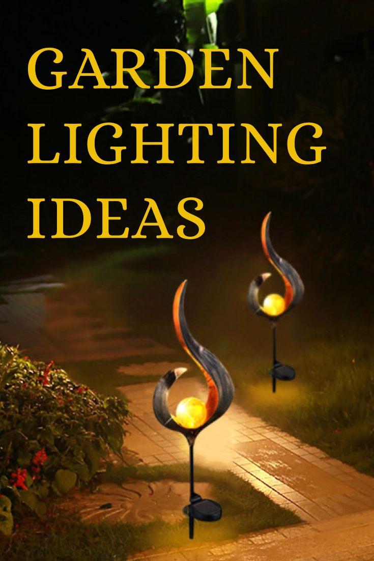 Garden lighting ideas, garden design.