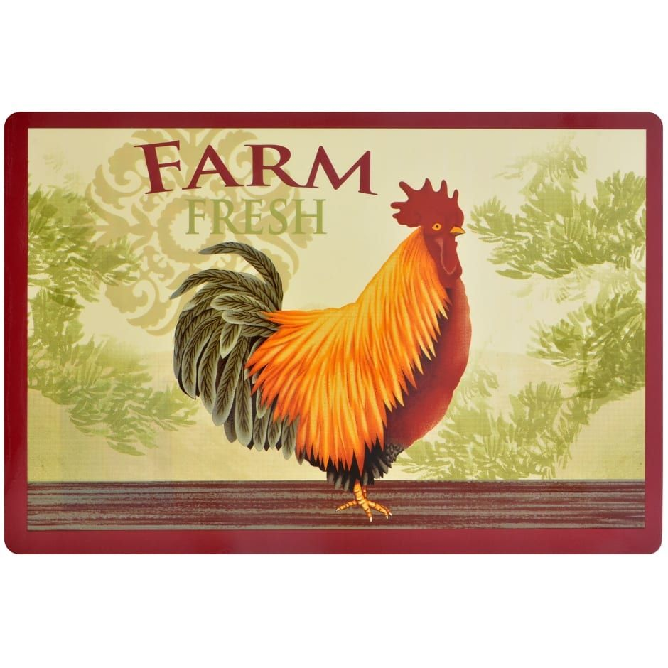 Home collection red truckthemed vinyl placemats 12x18 in
