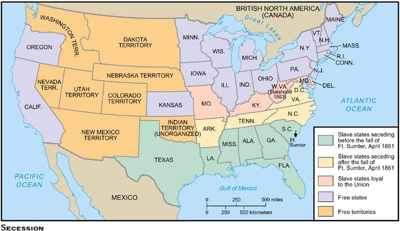 Secession map american civil war pinterest civil wars and secession map american civil war pinterest civil wars and american civil war sciox Images
