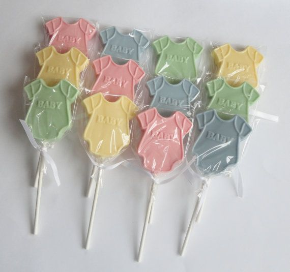 1 DOZEN Chocolate ONESIE Lollipops    Baby Shower Or Gender Reveal Party  Favors, Pregnancy