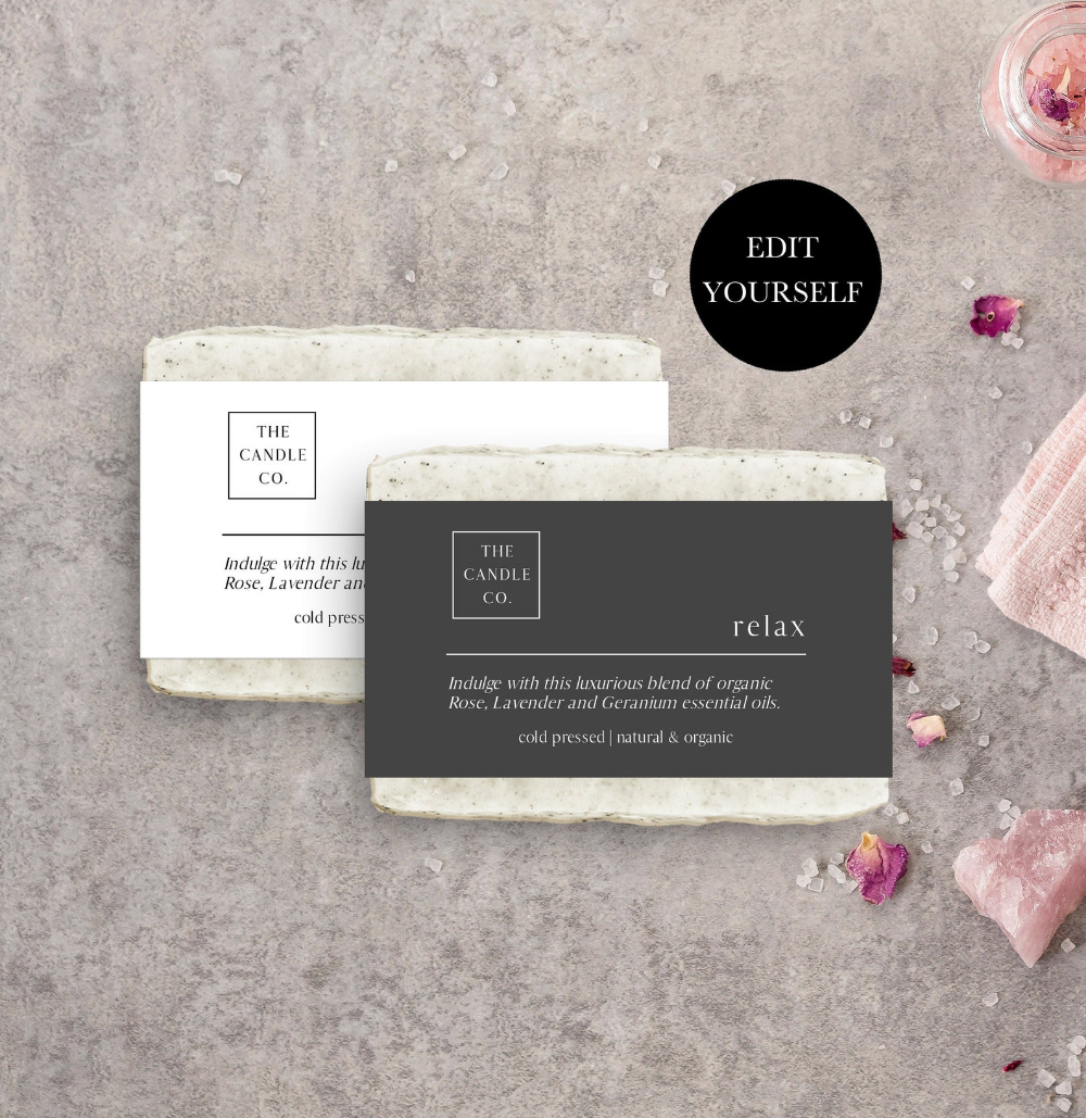 Printable Soap Label Soap Wrap Label Soap Packaging Soap