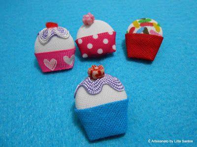 Cupcakes de botões  by Litta Santos