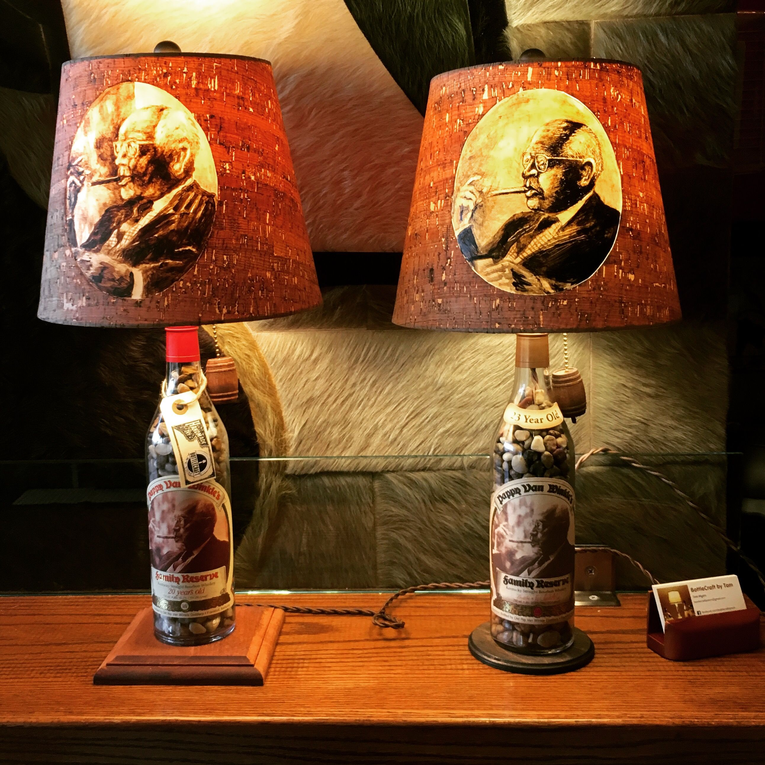 Custom Handcrafted Beer, Wine, And Liquor Bottle Lamps