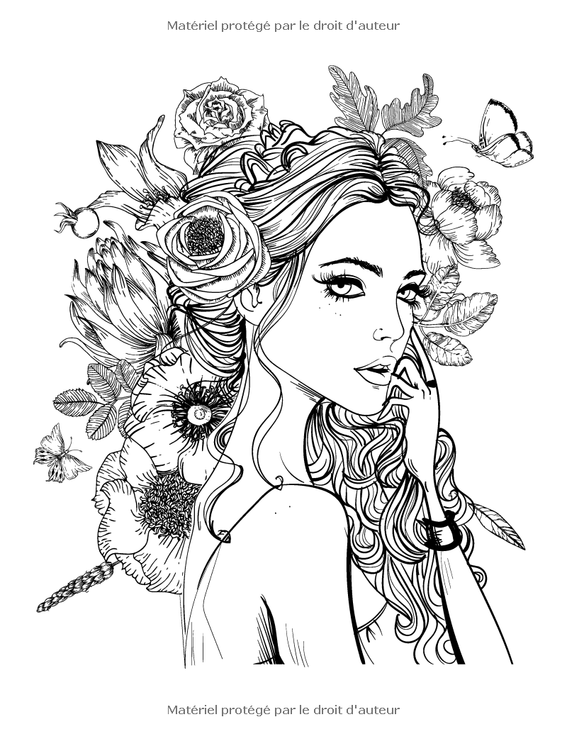 amazonfr livre de coloriage pour adultes portraits 2 nick snels livres girls coloring pagescoloring - Hair Coloring Pages