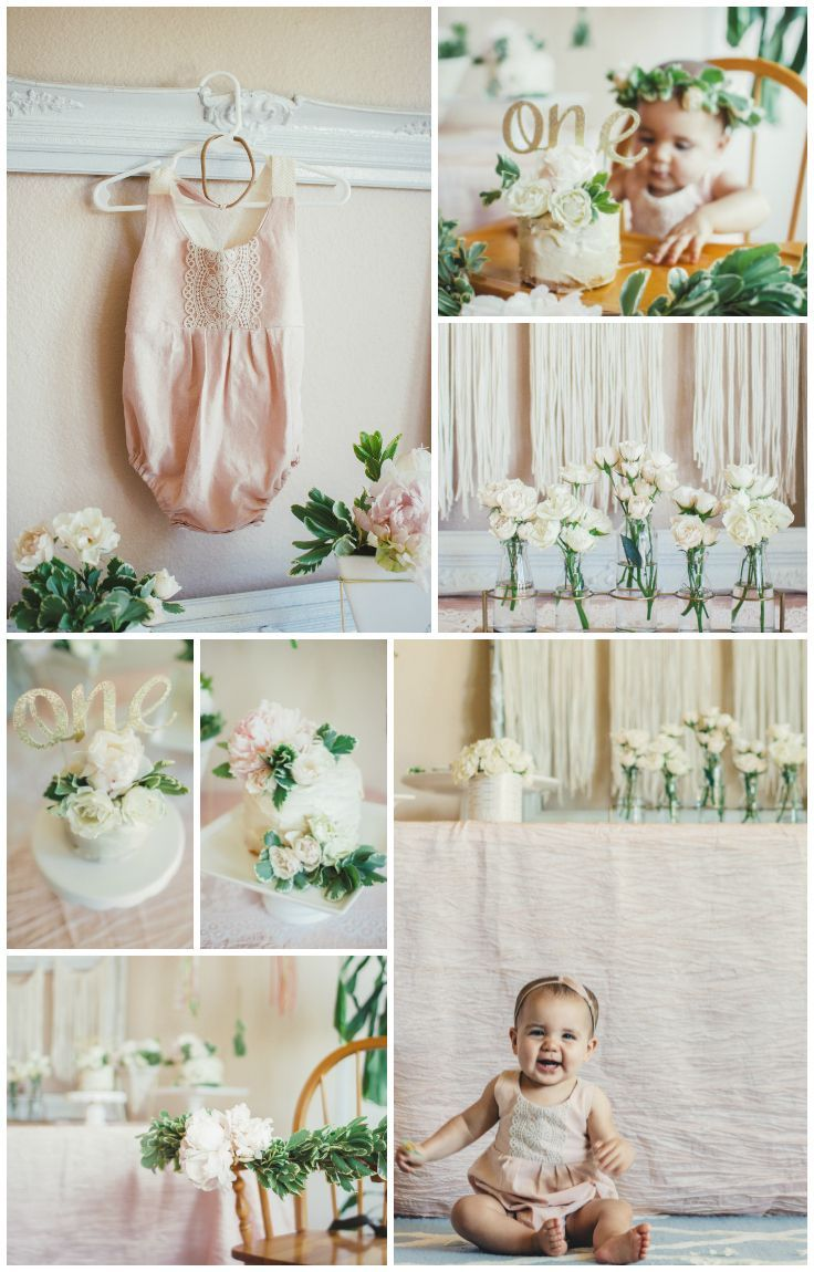 whimsical floral first birthday party, first birthday