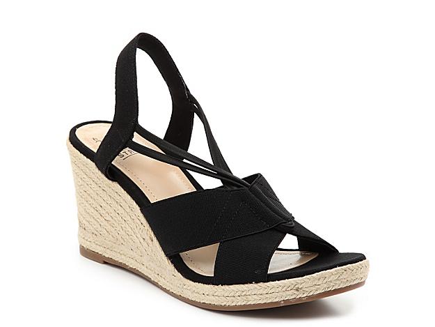Women Tegan Espadrille Wedge Sandal -Black