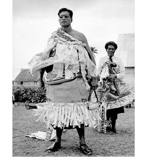 The Tui Nayau Ratu Sir Kamisese Mara Paramount Chief Of