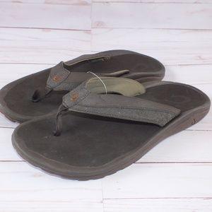 NEW Olukai Ohana Koa Flip Flop Sandals Size 13