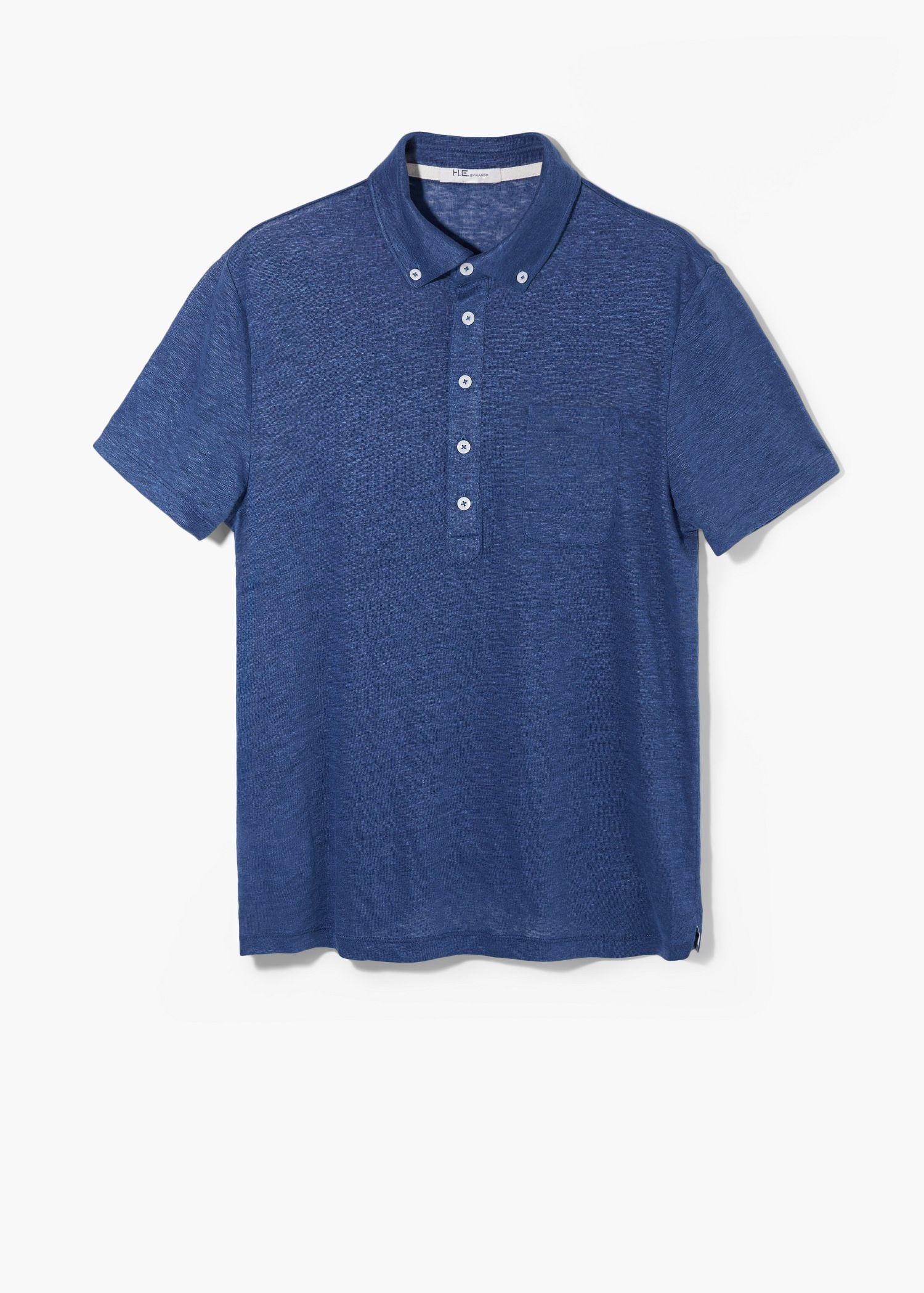Polo shirt design editor - Chest Pocket Linen Polo Shirt Polo Shirts For Men Mango