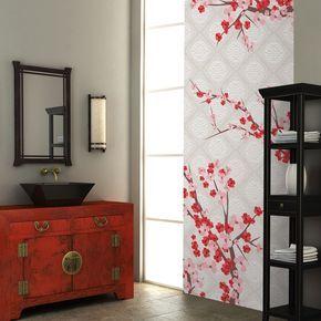 Le printemps dans votre salle de bain ! #papier #peint #fleurs ...