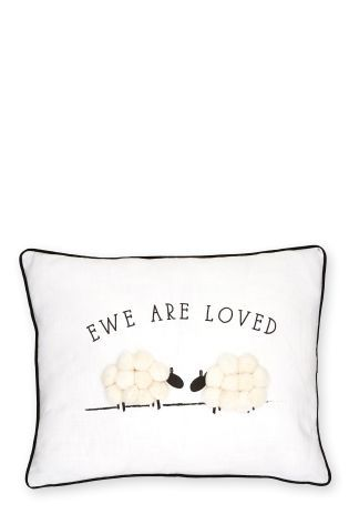 Buy EWE Are Loved Appliqu Cushion from the Next UK online shop