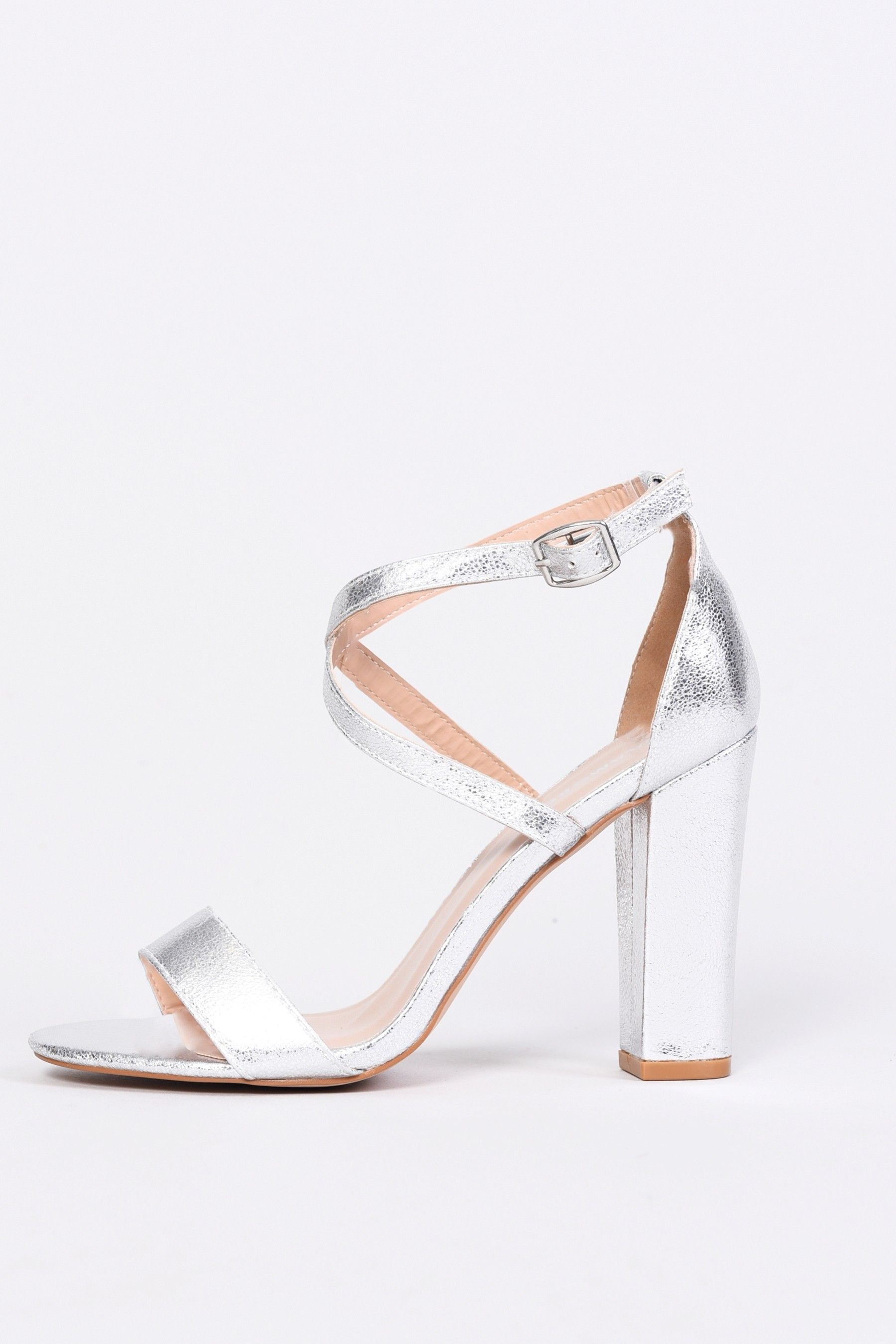 26477717ff129 Womens Glamorous Criss Cross Strap Sandal - Silver | Products ...
