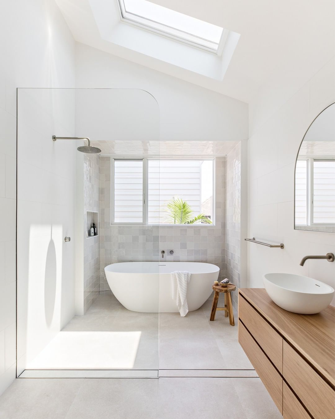"""ABI Bathrooms & Interiors on Instagram: """"We just adore a light-filled bathroom and this one by @orton.haus has us crushing hard ️  This light and airy bathroom has been…"""""""